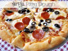 No Fail Pizza Dough (and homemade sauce!) November 2013 by Holly 2 Comments No Fail Pizza Dough (and homemade sauce! Perfect Pizza, Good Pizza, Pizza Pizza, Chicken Pizza, Pizza Party, Calzone, Stromboli, Tomate San Marzano, Pizza Recipes