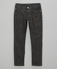 $12. Take a look at this Black Star Skinny Jeans - Girls by Unik on #zulily today!