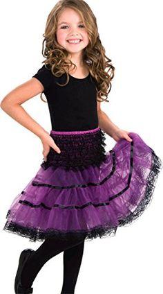 Forum Novelties Childs Crinoline Skirt Purple and Black ** ** AMAZON BEST BUY **