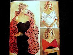 1980s Butterick Hollywood Glam Shoulder Wrap Pattern Misses All Sizes UNCUT 9 styles Shoulder Wrap by PatternsFromThePast