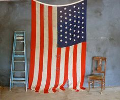 Large Antique 45 star American Flag c18961907 by abrshop on Etsy,