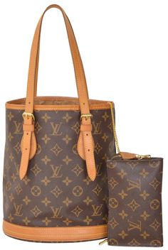ea2de40dab05 Louis Vuitton Monogram Bucket Pm M42238 Brown Tote Bag. Get one of the  hottest styles