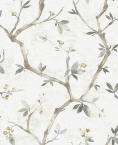 Welcome to Prime Walls, your premier source for designer wallpaper, wall coverings and digital print coverings! Our designs range from modern to contemporary! Grey Floral Wallpaper, Watercolor Wallpaper, Wallpaper Size, Tree Wallpaper, Wallpaper Samples, Vinyl Wallpaper, Colorful Wallpaper, Wallpaper Roll, Nature Wallpaper