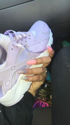 #nails #shoes #pink #purple