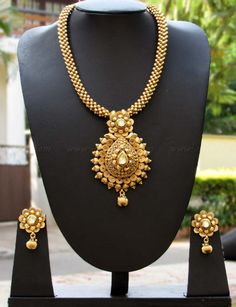 Designer Kundan, Pearl & Polki Necklace Set