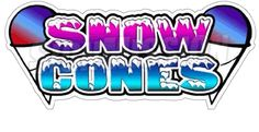 SNOW CONES I Concession Decal sno kone cone sign cart trailer stand sticker in Business & Industrial, Retail & Services, Business Signs Party Rental Supplies, Snow Cone Stand, Outdoor Vinyl Banners, Concession Food, Sno Cones, Italian Ice, Business Signs, Decals, Sticker