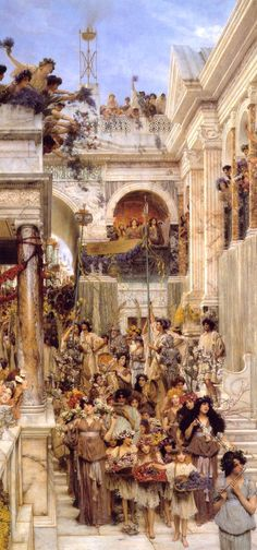 Spring - SIR LAWRENCE ALMA-TADEMA One of the most beautiful paintings ever. A must see at the Getty!