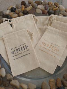 candy buffet?? Greek Proverb Stamped Favor Bags - BAGS ONLY - Wedding - Bridal - Baby. $0.75, via Etsy.