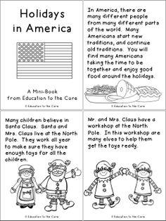 Holidays / Christmas around the world books and Holidays in America FREEBIE!