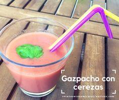 Ya se que podréis pensar que he publicado muy seguidas dos recetas de gazpacho, y es cierto, pero la ocasión lo merece: gazpacho con cerezas.
