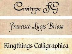 скачать каллиграфические шрифты для