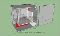 15 inch Mini Scoop 15 Inch Subwoofer Box, Diy Subwoofer, Subwoofer Box Design, Speaker Box Design, Sub Box Design, Audio Amplifier, Speakers, Loudspeaker, Home Theater