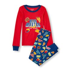 Boys Long Sleeve 'Snack Master High Score!' Top And Video Game Snack Print Pants PJ Set