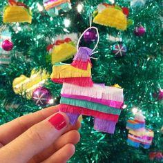 Piñata Ornaments Piñata Gift Mexican Fiesta Christmas by LulaFlora