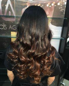 """292 Likes, 97 Comments - @manuellobo on Instagram: """"#ombre #caramel si tienes el cabello teñido de negro si se logra un #ombre en este tono esto es…"""""""