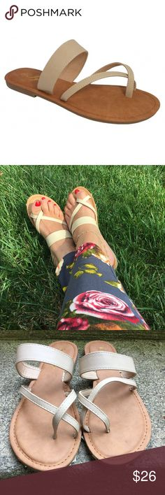 🌸CLEARANCE🌸The Everyday Sandal These sandals are oh so comfy! Slip them on and your on the go! Cushioned insole. Faux leather straps. Matches any outfit! Fits true to size Bchic Shoes Sandals