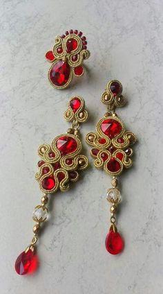 Soutache Earrings, Ring Earrings, Soft Sculpture, Beading Tutorials, Shibori, Jewelry Art, Seed Beads, Diy And Crafts, Jewelery