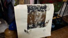 Print on linen fabric