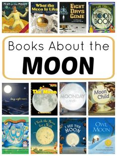 Fiction and nonfiction books about the moon that will fascinate kids as part of a preschool or kindergarten moon unit or space theme. Space Preschool, Preschool Books, Science Books, Book Activities, Montessori Books, Library Science, Sequencing Activities, Kindergarten Science, Science Ideas