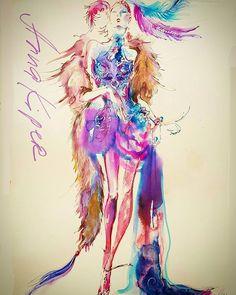 Inks and watercolors. #annakiper #fashion #drawing #design #instaart #watercolor #style #couture #inkdrawing #illustration #image #dailysketch #drawadot #beautiful #fashionweek #sketch #paperfashion #fashionillustratin #artoftheday  #beautifulbizarremagazine #art #фэшн #мода #рисунок #дизайн #иллюстрация #акварель
