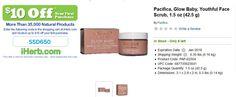 Pacifica, Glow Baby, Youthful Face Scrub, 1.5 oz (42.5 g)   http://iherb.com/Pacifica-Glow-Baby-Youthful-Face-Scrub-1-5-oz-42-5-g/64050
