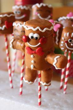 Munchkin Munchies: Marshmallow Gingerbread Men Pops
