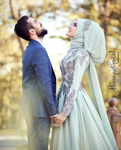 """The man I'm engaged to think movies and TV are OK to watch and that hijab can be taken off if the woman feels unsafe."" dresses muslim men Ask About Islam Wedding Hijab Styles, Muslimah Wedding, Muslim Wedding Dresses, Muslim Brides, Muslim Men, Dress Wedding, Wedding Couple Poses Photography, Wedding Poses, Wedding Photoshoot"