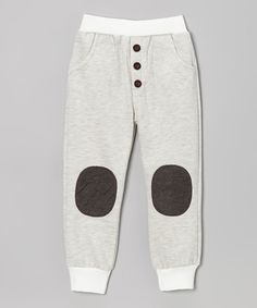 Take a look at this Gray Patch Sweatpants - Toddler & Boys on zulily today!