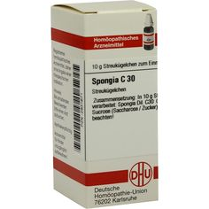 SPONGIA C 30 Globuli:   Packungsinhalt: 10 g Globuli PZN: 02931671 Hersteller: DHU-Arzneimittel GmbH & Co. KG Preis: 5,19 EUR inkl. 19 %…