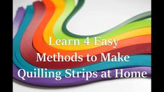How To Make Your Own Quilling Paper Strips Paper Tales brings you a new tutorial! Learn how to make your own quilling strips at home. Use them to make qui. Diy Quilling Crafts, Paper Quilling Tutorial, Fun Diy Crafts, Quilling Art, Paper Crafts, 3d Paper, Quilling Videos, Paper Quilling For Beginners, Quilling Techniques