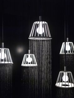 WaterDream pendants/showers by Nendo for Axor