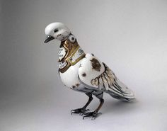 Artist Creates Steampunk Animals from Recycled Car Parts, Electronics and Watches.