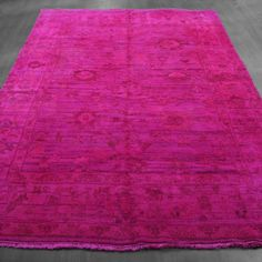 6x9 Over-Dyed Hot Pink Turkish Rug woh-2648