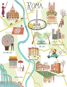 all inclusive package holidays to italy Rome Travel, Travel Maps, Travel Posters, Italy Travel, Rome Map, Voyage Rome, Best Of Italy, Italy Map, Travel Illustration