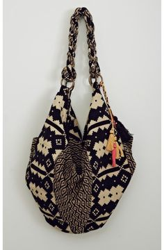 SHIVA PATTERNED HOBO BAG- this would be even better if the strap were longer