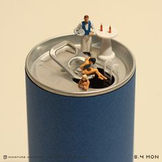 Japanese Artist Creates Beautiful Miniature Dioramas Using Everyday Objects And…