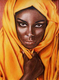 Black Women Art!, African beauty by ~tacsitimea