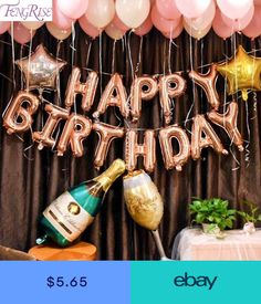 birthday party decorations 468655904973853868 - Alphabet Champagne Photography Letter Foil Balloon Backdrops Adult Birthday Party Set Pink Star Latex Globo Background Source by Champagne Birthday, Gold Birthday Party, Happy Birthday Balloons, Adult Birthday Party, Gold Party, Birthday Diy, Happy Birthday Banners, Birthday Gifts, 30th Balloons