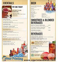 143 best print restaurant menu images on pinterest menu printing