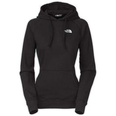The North Face Women's EMB Logo Pullover Hoodie ($45) ❤ liked on Polyvore featuring tops, hoodies, hooded sweatshirt, pullover hoodies, raglan top, hooded tops e raglan hoodie