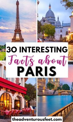 Do you want to learn more about the French capital? Here are the most interesting facts about Paris you probably didn't know.| fun facts about Paris| facts about Paris for kids| amazing facts about Paris France| things to know about Paris| Paris facts for kids| Paris fun facts| Paris catacombs facts| Paris facts for tourists| Eiffel Tower interesting facts| Paris history facts Travel Around Europe, Cities In Europe, Cool Places To Visit, Places To Travel, Travel Destinations, Amazing Facts, Interesting Facts, Paris Paris, Paris France