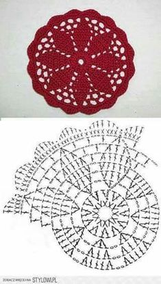 Watch This Video Beauteous Finished Make Crochet Look Like Knitting (the Waistcoat Stitch) Ideas. Amazing Make Crochet Look Like Knitting (the Waistcoat Stitch) Ideas. Crochet Coaster Pattern, Crochet Doily Patterns, Crochet Mandala, Crochet Diagram, Crochet Chart, Crochet Squares, Crochet Designs, Crochet Doilies, Crochet Flowers