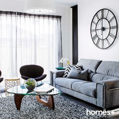 Live clean and clutter-free with this simple guide to keeping your living room tidy, all day everyday. From decluttering tips to smart storage ideas, your home will neat and organised in no time. Contemporary Style Homes, Smart Storage, House And Home Magazine, Interior Inspiration, Family Room, Clutter, Organization, Living Room, House Styles