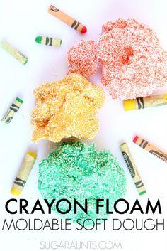 Crayon Floam Dough recipe