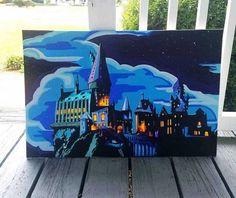 Hogwarts my bf Acrylics 2019 Harry Potter Canvas, Harry Potter Painting, Harry Potter Artwork, Harry Potter Drawings, Small Canvas Art, Diy Canvas Art, Posca Art, Desenhos Harry Potter, Arte Sketchbook