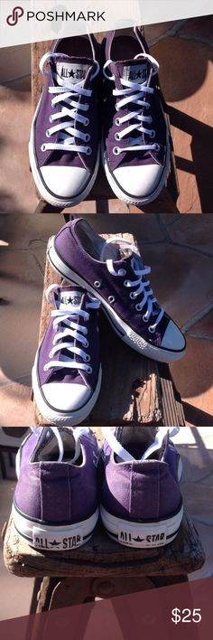 FINAL MARKDOWNConverse Purple Women's Size 6.5 Women's size 6.5 these are in great condition gently used. Have plenty of use left in them. Shoes Sneakers