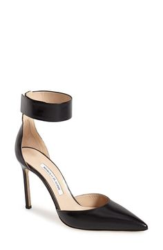 Manolo Blahnik 'Ollico' Ankle Cuff d'Orsay Pump (Women) available at #Nordstrom
