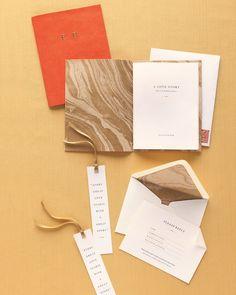 Marbled Wedding Stationery Suite - Martha Stewart Weddings Clip Art - bookmarks!