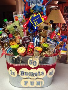 Turning dirty 30 gift basket