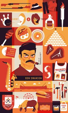 Paying Tribute: Illustrate Your Favorite TV Episode/Scene or Character - Ron Swanson from parks and recreation